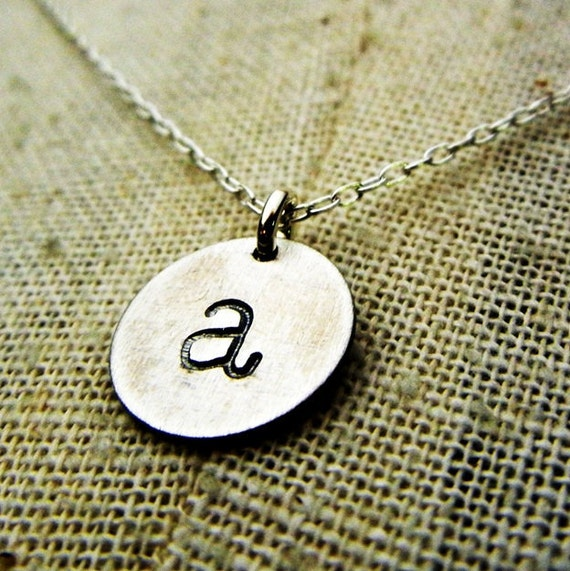 Initial Necklace | Vintage Style Letter Necklace | Vintage Style Initial Necklace | Charm Necklace | CHELSEA by E. Ria Designs