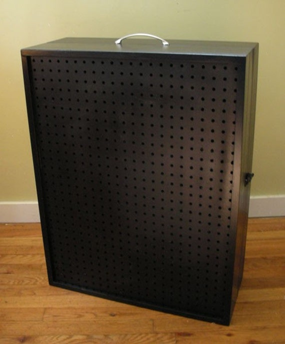 Portable Exhibition Display Cases : Custom for jilleysue portable pegboard display case