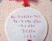 50% OFF Hoop Embroidery - Algebra Love WAS 22.00