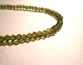 Olive Green Swarovski Crystal Anklet