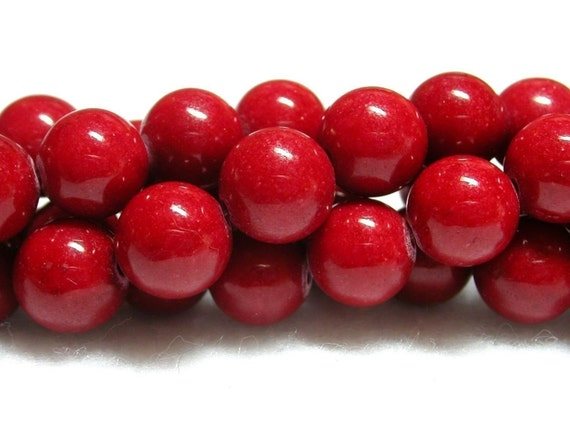 8mm red beads 8mm red mountain jade.