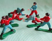 Vintage Football Player Cupcake Toppers