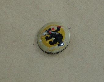 WW11 cartoon bear w/ missle pin