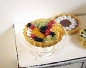 Glorious Fruit Tart - 1/12 dollhouse miniature
