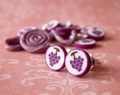 Grape Candy Earrings - Japanese Fruit Candy - Food Jewelry Candy Collection