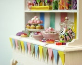 Colorful Candy Cabinet  - 1/12 miniature - FREE SHIPPING