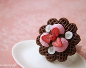 Waffle Ring - Chocolate Decadence and Strawberry Ice Cream - Waffle Collection