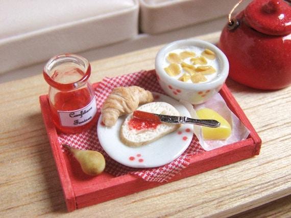 Breakfast Tray on Sunday - 1/12 Dollhouse Miniature Food