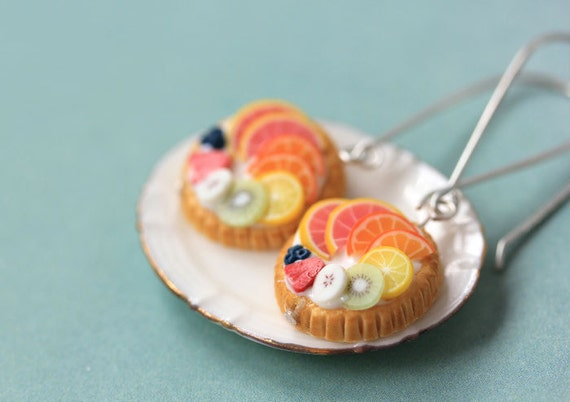 Fruit Tart / Pie / Cake Earrings - Tutti Frutti - Fruit Tart Collection - SALE