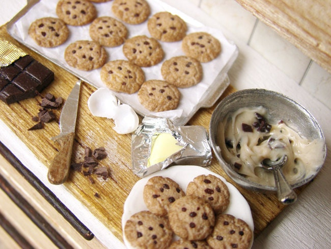 miniature cookie preparation board american chocolate chip. Black Bedroom Furniture Sets. Home Design Ideas