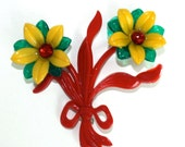 Vintage Large Plastic Flower Bouquet Primary Colors - GeneralWhimsy2