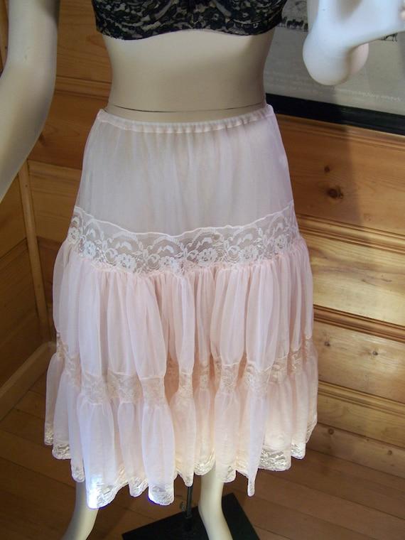 Vintage 50s Petticoat Half Slip Chiffon By Ohvintagethreads