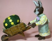 Mrs. EasterBunny - a ooak polymer clay miniature by CWPoppets
