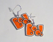 Plastic 'boo' earrings