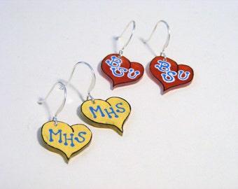 School spirit earrings