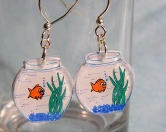 Plastic Fishbowl earrings