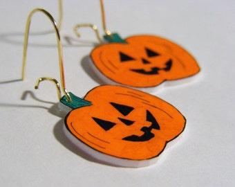 Spooky Jack plastic Halloween  earrings