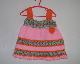 Toddler Girls- Hand Knit Dress- Size  12 Mo-  Baby GirlsCLEARANCE