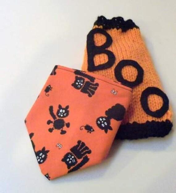 XXS Halloween BOO Dog Sweater Plus Bandana  Chihuahua Clothes  Yorkie Pet Apparel Toy Dog