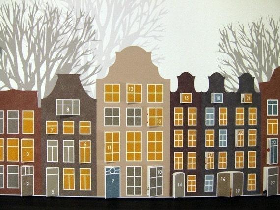 Amsterdam Advent Calendar (2) - Custom Order for Alice