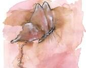 Beautiful Unraveling -  original watercolor painting