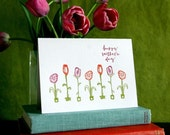 Happy Mother's Day Flowers- letterpress card