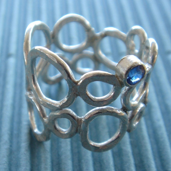 RESERVED sterling silver bubble ring reserved for candy