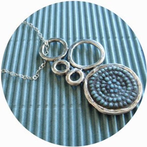 sterling silver bubble seed bead necklace