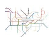 London Subway map ( LINE ART ) - 8.5 x 11 Print