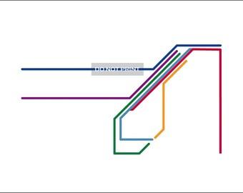 San Francisco Metro Map ( LINE ART ) - 16 x 20 PRINT