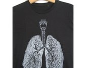 Anatomical Lung t-shirt / sizes S, L