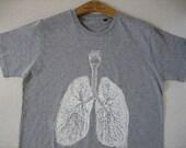 Anatomical lung t-shirt / male size Large