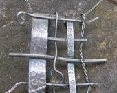 Sterling Silver Weaved Metal Pendant (Chain is not included)