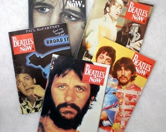 FREE SHIPPING 1984 to 1985 Beatles Now Fan Magazine (set of 5)