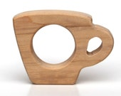 Wooden Teether Teacup wooden toy baby toy