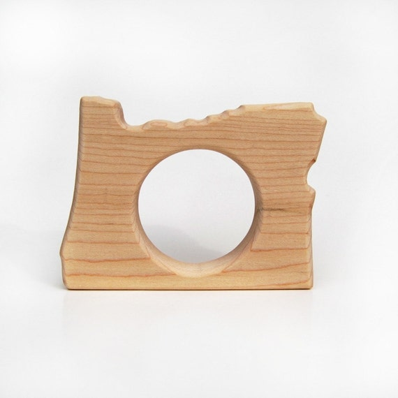 Little Oregon State TEETHING TOY - natural wooden teether for infants and toddlers