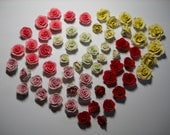 Rose Beads - Polymer Clay in 5 colors