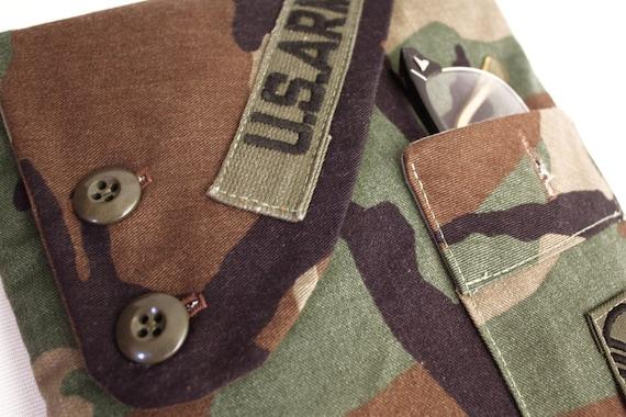 iPad Case Army Handmade Vintage Fabric iSockit