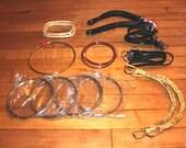Studio cleanout - TWELVE pairs of purse handles