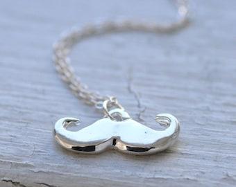 little stache necklace