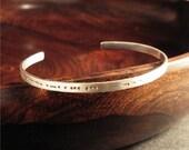 Morse Code Cuff Bracelet - customize