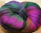 Hand Dyed Aran Weight Wool Yarn - Earth