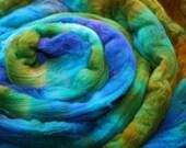 Hand Dyed 15.5 micron Australian Merino Wool Top - Blues