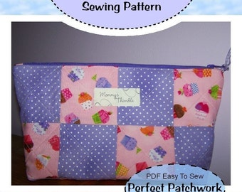 PDF - Easy to Sew Perfect Patchwork Pouch