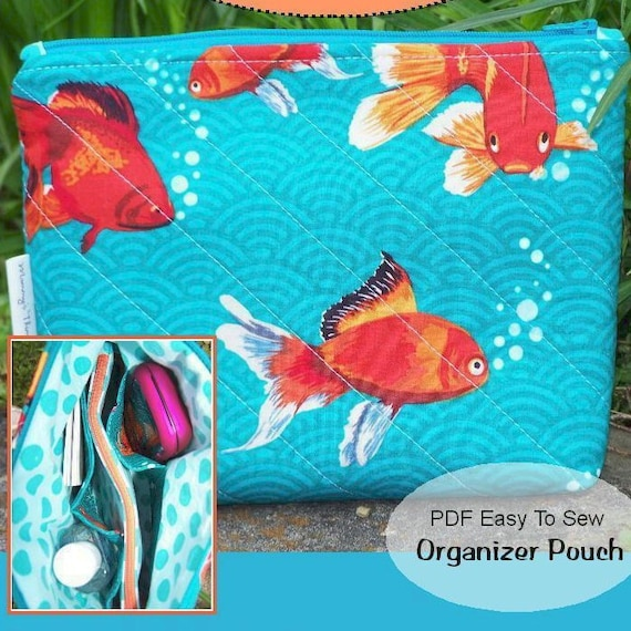 NEW - PDF - Easy to Sew Organizer Pouch - A Double Pouch