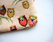 NEW MiniDuo all-in-one Zip Pouch - Hoot Hoot Owl (Oat)