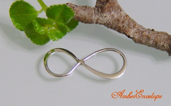 Sterling Silver Infinity Link. 2pcs. SS-S2695