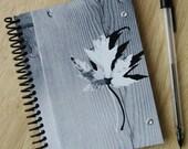 blank notebook - leaf