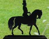 Equestrian in the Dressage Show Ring Decorative Wood Display Silhouette  safh004