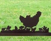 Chicks Under Foot Hand Made Wood Display Silhouette Decoration - SAFB003